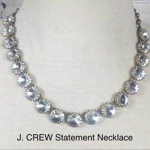 Stunning J. Crew Glass Crystals Statement Necklace